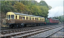 SO7975 : Autocoach sandwich approaches Bewdley by Philip Pankhurst