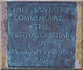 SP2032 : Festival of Britain 1951 plaque, Moreton-in-Marsh by Jaggery