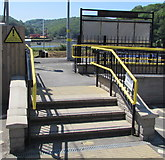 SX2553 : Steps up to Looe railway station by Jaggery