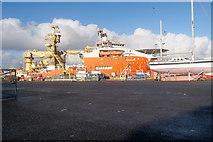 HU4642 : Lerwick Harbour, Normand Vision at Morrison Dock by David Dixon
