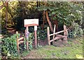 SU8034 : Entrance stile to Deadwater Valley LNR, Bordon, Hampshire - 170918 by John P Reeves