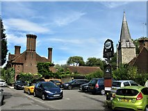 TR1859 : Fordwich Arms and Church of St Mary, Fordwich by G Laird