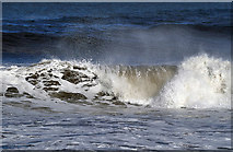 NU0052 : A crashing wave at Meadow Haven by Walter Baxter