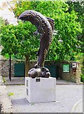 "S0524 : ""Fish Abounding"" sculpture, Cahir, Co. Tipperary by P L Chadwick"
