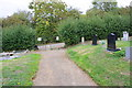 SK7730 : Path from cemetery onto Tofts Hill by Roger Templeman