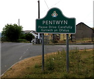 SO1004 : Northern boundary of Pentwyn by Jaggery