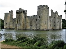 TQ7825 : South and East Façades, Bodiam Castle by G Laird