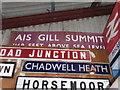 TQ9497 : A Settle & Carlisle sign in Essex by Marathon