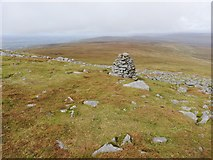 NY6834 : Cairn on the path to Cross Fell summit by Clive Nicholson