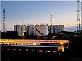 NJ9505 : Aberdeen Harbour, Storage Tanks at Footdee by David Dixon