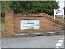 TL8526 : The Essex Golf Academy sign by Adrian Cable