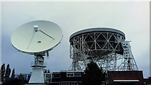 SJ7971 : The 42-ft and Lovell telescopes at Jodrell Bank Observatory by Benjamin Shaw