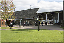 SE2768 : Fountains Abbey Visitor Centre by Malcolm Neal