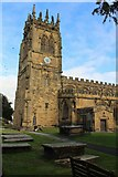 SJ3454 : Tower of All Saints' Church, Gresford by Richard Hoare
