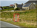 HU4235 : Bus Stop on the A970 at Quarff by David Dixon