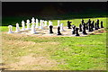 SP8633 : Outdoor chess at Bletchley Park by Tiger