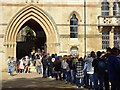 SP5105 : Crowds queue to visit Christchurch by Philip Halling