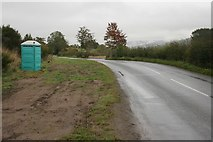 NN8048 : Portaloo beside the road by Richard Sutcliffe