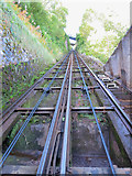 SS7249 : Looking up the Lynton & Lynmouth Cliff Railway by Gareth James