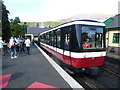 SH5859 : Snowdon Mountain Railway train at Llanberis Station by David Hillas