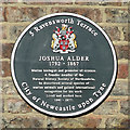 NZ2364 : Plaque re Joshua Alder, Ravensworth Terrace by Mike Quinn