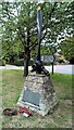 SK8376 : Memorial to crew of Stirling bomber on Laughterton village green by Chris Morgan