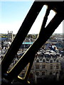 SP5106 : Oxford: a peek from behind the XI of St Mary's church clock by Chris Downer