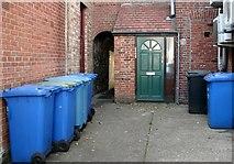 TG2309 : Wheelie bins in Thoroughfare Yard by Evelyn Simak