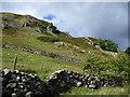 NY4317 : Thrang Crag under Ewe Crag, Martindale by Christine Johnstone