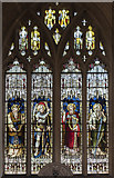 SP0202 : Stained glass window, St John the Baptist church, Cirencester by Julian P Guffogg
