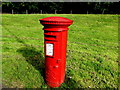 SS9795 : King George VI pillarbox, Ystrad Road, Pentre by Jaggery
