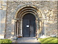 SK8881 : The south doorway of St Mary's Church, Stow by Marathon