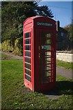 SK9805 : Former telephone box, now a Defibrillator box by Bob Harvey