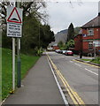 ST2390 : Warning sign - Humps for 600 yards, Grove Road, Risca by Jaggery