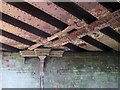 SE9932 : Water  drainage  pipes  from  railway  bridge  above by Martin Dawes