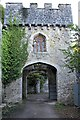 SH9277 : Archway and turret in Gwrych Castle by Richard Hoare