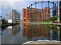 TQ2983 : King's Cross: reflections in Regent's Canal by John Sutton