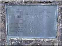 SO7643 : Plaque to Fred Ballard JP by Philip Halling