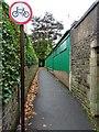 SO7845 : Alleyway off Barnard's Green Road by Philip Halling
