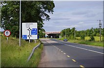 S7682 : R448 road approaching junction with M9, near Prumplestown, Co. Kildare by P L Chadwick