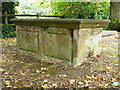 SP2089 : Listed chest tomb in the churchyard by Richard Law