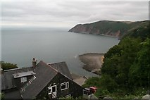 SS7249 : View from Lynton & Lynmouth Cliff Railway by Chris