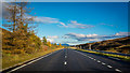 NN6871 : Looking east from Layby 72 on the northbound A9 by Peter Moore