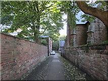 SJ4692 : Vicarage Place, Prescot by Jonathan Thacker