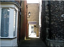 TG5207 : Great Yarmouth's Rows - Row 108 (Walking Row) by Evelyn Simak