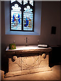 SD7442 : Clitheroe parish church: stone altar  by Stephen Craven