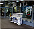 SS6593 : The People's Pottery Piano in Swansea railway station by Jaggery