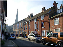SU1429 : St Martin's Church Street, Salisbury - south side by Stephen Craven