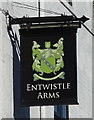 SD9014 : Sign for the Entwistle Arms, Rochdale by JThomas