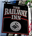 SS6595 : Railway Inn name sign, Siloh Road, Swansea by Jaggery